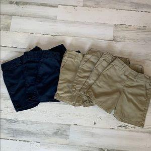 7 Pairs of Boys Dickie Shorts 4 Tan 3 Navy (3T)
